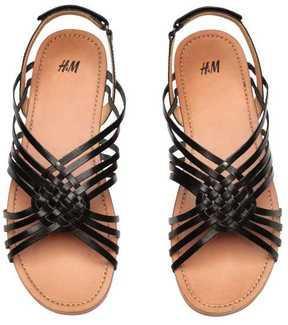 H&M Braided Leather Sandals