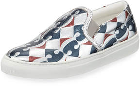 Anya Hindmarch Skater Carrefour Sneakers, Blue