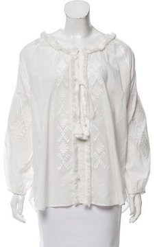 Figue Embroidered Long Sleeve Top