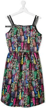 Simonetta multi print dress