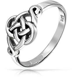 Celtic Bling Jewelry Irish Cut Out Love Knot Sterling Silver Ring.