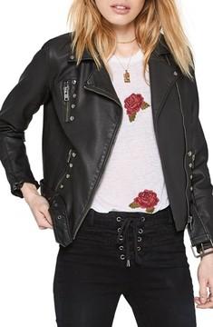 Amuse Society Women's Blackhawk Faux Leather Jacket