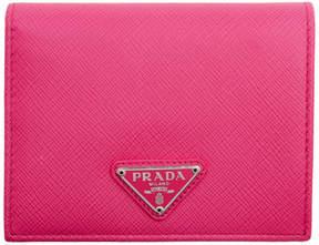 Prada Pink Small Triangle Logo Wallet