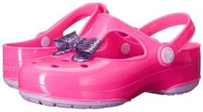 Crocs Carlie Glitter Bow Clog MJ PS (Toddler/Little Kid)