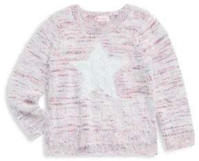 Design History Toddler's, Little Girl's& Girl's Brushed Star Sweater