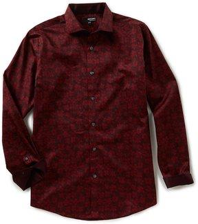 Murano Liquid Luxury Long Sleeve Floral Print Spread Collar Woven Shirt