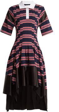 DAY Birger et Mikkelsen KOCHÉ Striped handkerchief-hem dress