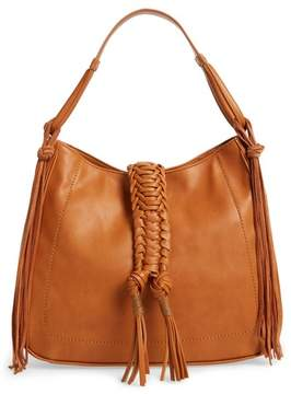 Sole Society Vale Faux Leather Hobo Bag - Brown