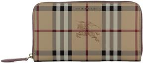 Burberry Beige Leather Wallet - BEIGE - STYLE