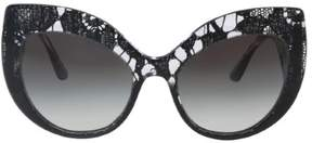 Dolce & Gabbana DG4321 31528G Black Gradient Cateye Sunglasses