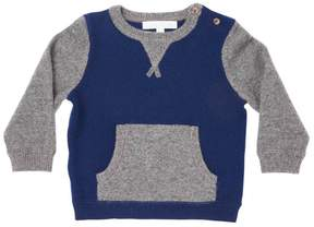 Marie Chantal Baby Boy Mini Two-tone Cashmere Sweater - Blue/Grey
