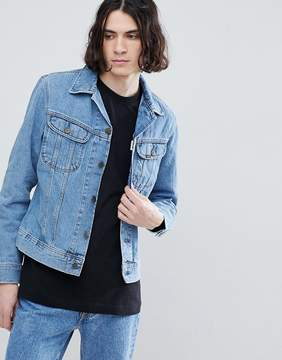 Lee Slim Rider Jacket in Super Stonewash
