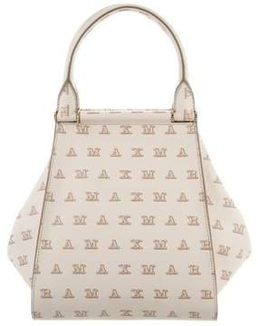 Max Mara Logo Leather Tote Bag