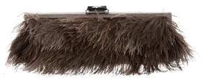Kotur Feather Embellished Clutch