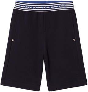 Versace Navy Branded Waist Sweat Shorts
