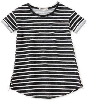 Copper Key Little Girls 2T-6X French Terry Striped Dress
