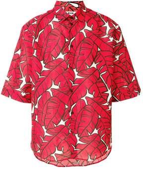 MSGM leaf print shirt