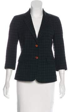 Band Of Outsiders Structured Plaid Blazer