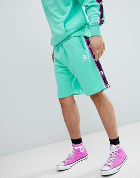 Converse Shorts With Taped Side Stripes In Green 10007589-A05