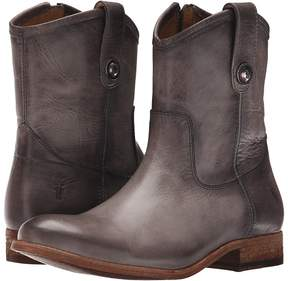 Frye Melissa Button Short Cowboy Boots