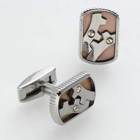 Triton Axl By AXL by Stainless Steel, Titanium and 14k Gold Gear Cuff Links
