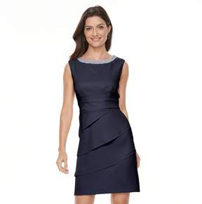 Connected Apparel Women's Tiered Sheath Dress
