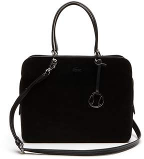Lacoste Women's Off The Court Dual Carry Suede Leather Boston Bag