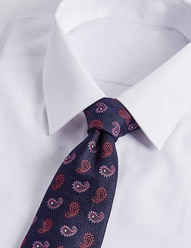 Marks and Spencer Pure Silk Paisley Print Tie