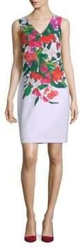 Donna Ricco Floral-Print Sleeveless Dress