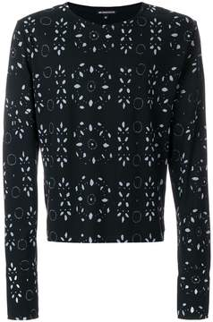 Ann Demeulemeester broderie anglaise print sweatshirt