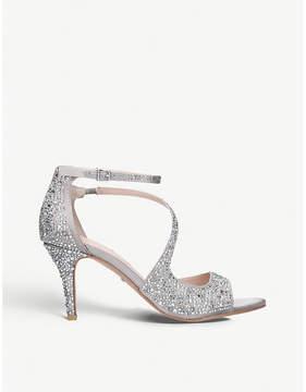 Carvela Gamma2 gem-embellished satin heeled sandals