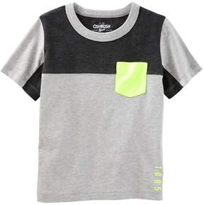 Osh Kosh Oshkosh Bgosh Boys 4-12 Colorblock Pocket Tee