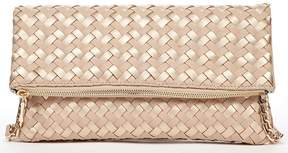 Sole Society Briel Metallic Fold-Over Clutch