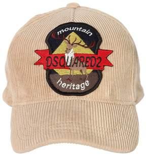 DSQUARED2 Deer Patch Corduroy Baseball Hat