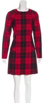 DKNY Pleated Plaid Dress