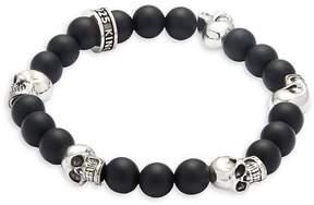 King Baby Studio Men's Onyx Skull Bracelet