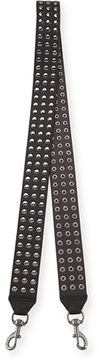 Rebecca Minkoff Flat Studded Leather Guitar Strap - BLACK - STYLE