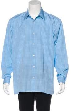 Charvet Plaid Dress Shirt