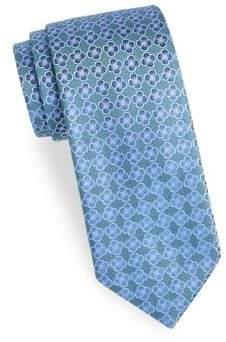 Charvet Embroidered Flower Silk Tie