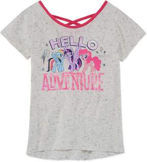 My Little Pony Round Neck Short Sleeve Blouse - Big Kid Girls