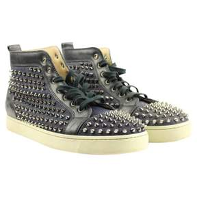 Christian Louboutin Black Leather Trainers