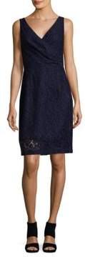 Donna Morgan Lulu V-Neck Lace Mini Dress
