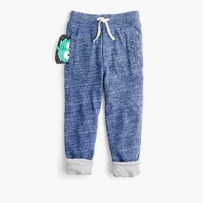 J.Crew Boys' lined sweatpants in hidden Max the Monster