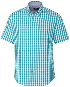 Cutter & Buck Aqua Plaid Los Rios Wrinkle-Free Button-Up - Men
