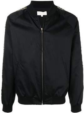 Ih Nom Uh Nit logo stripe bomber jacket