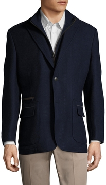 Kroon Men's Zeppelin Wool Solid Sportcoat