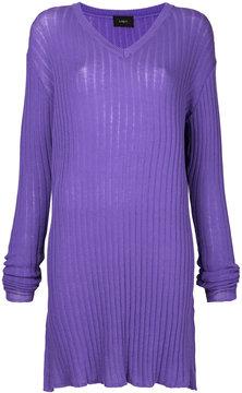 G.V.G.V. ribbed tunic jumper