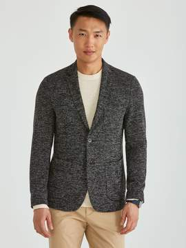 Frank and Oak Dynamic Stretch 2-Button Sportcoat in Mixed Black