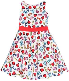 Moschino Logo Printed Cotton Poplin Dress