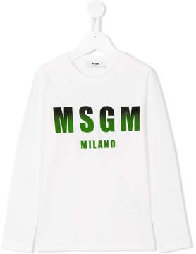 MSGM dégradé logo print top